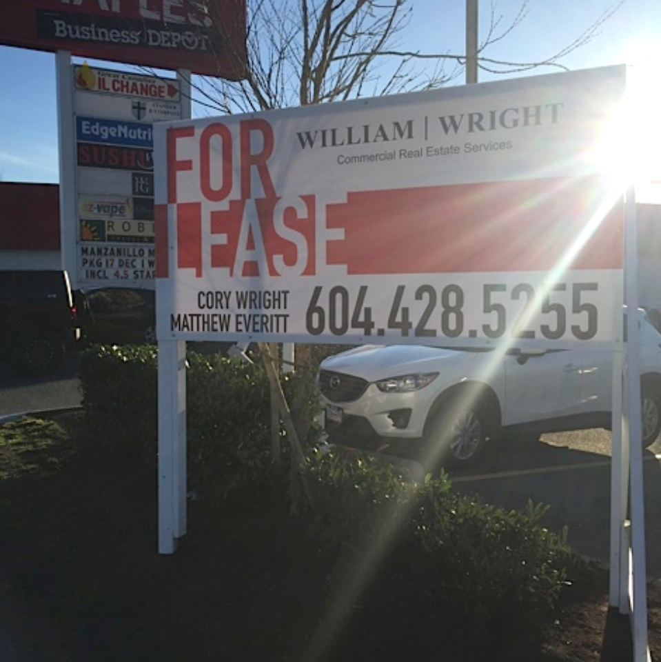 For Lease or Sale Signage