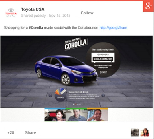 Social Media Advertising on Google+