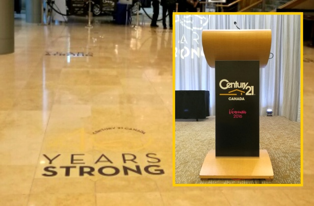 Event Promotions » Floor & Letter Graphics Printed on Removable Vinyl/ Non-Skid Lam