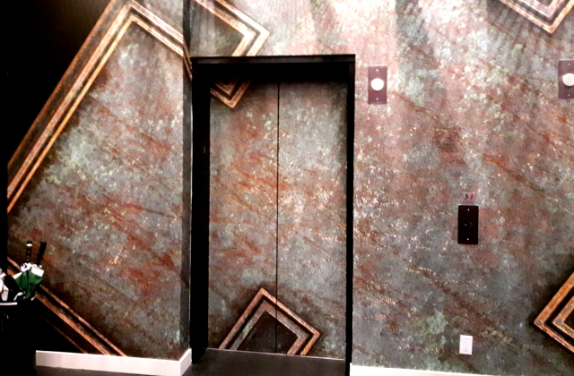 Office Building Elevator » Custom Wall Décor » Superwide Latex Printing » Custom Installation