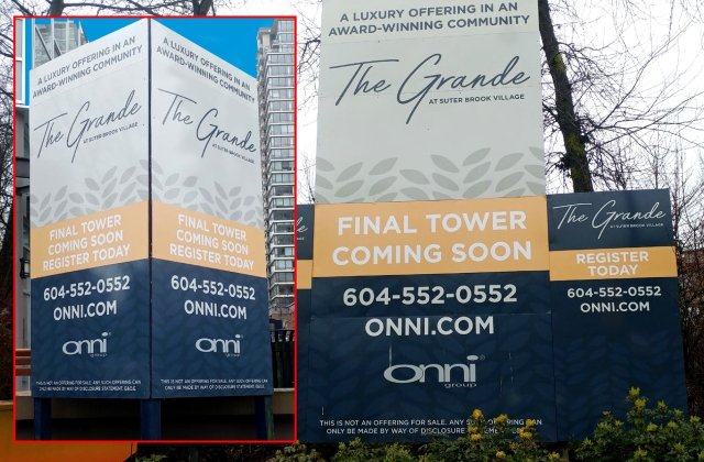 Condo Sales Signage » UV Substrate Printing on Various Media » Digital Cutting & Fabrication